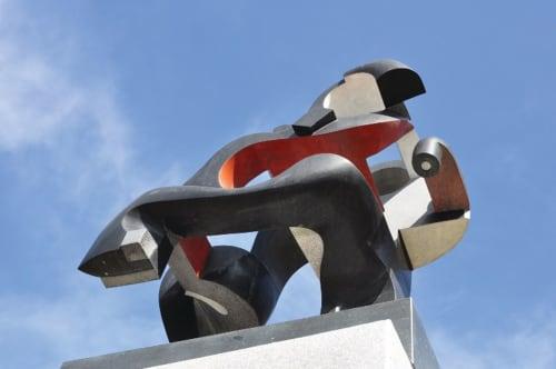 Public Sculptures by Jhon Gogaberishvili seen at South Korea - Dancing Forms