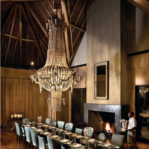 Chandeliers by Mud Studio , South Africa seen at Private Residence - The dining room Chandelier