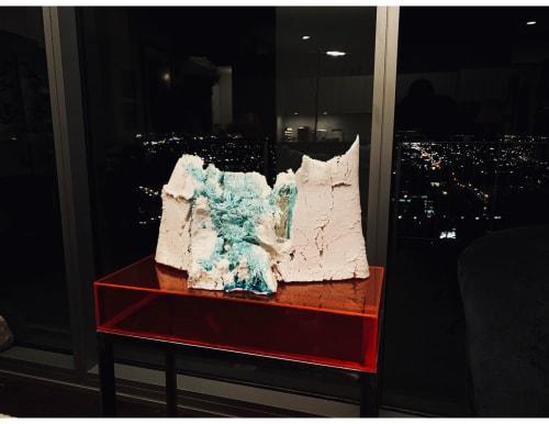 Sculptures by Adam Knoche seen at One Arts Plaza, Dallas - Glacial Milk