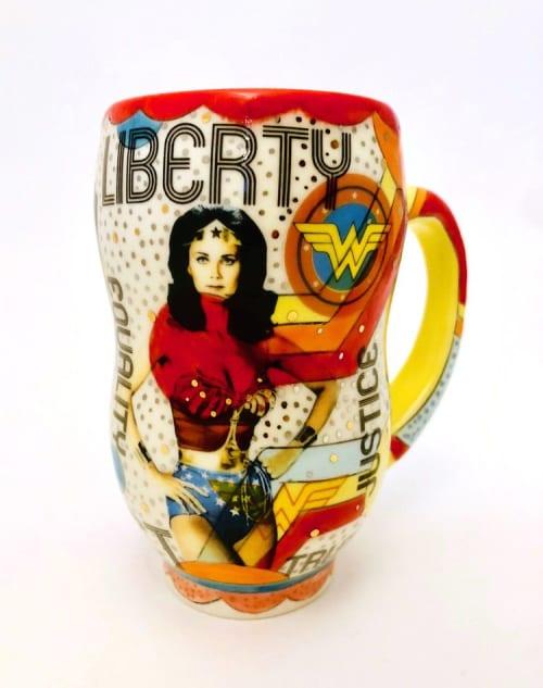 Cups by FORAGE STUDIOS seen at Wares Creek - WONDER WOMAN MUG NO. 1