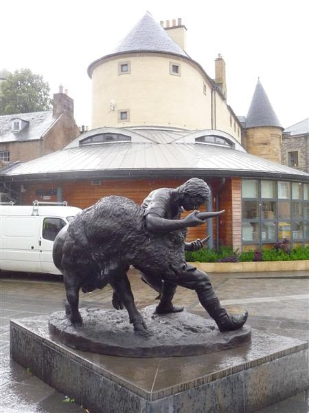 Public Sculptures by Angela Hunter Sculpture seen at Hawick, Hawick - Turning the Bull