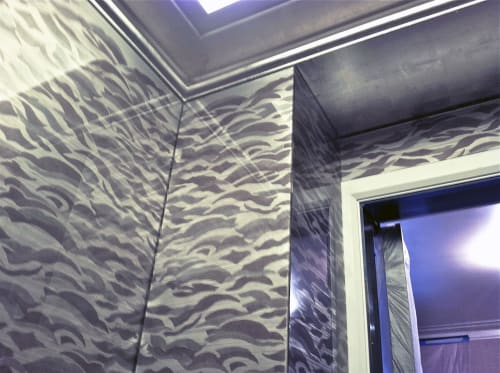 Murals by Vesna Bricelj seen at Private Residence, New York - Waves