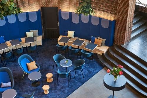 Chairs by De Vorm seen at PONG - Popkultur & Gastro, Düsseldorf - Nook PET Felt Lounge Chair