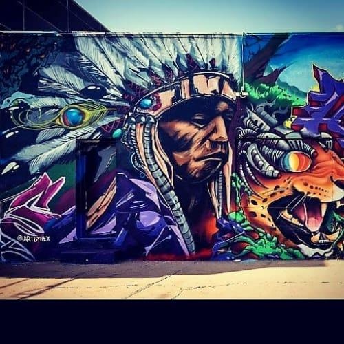 Street Murals by HEX seen at River North Art District, Denver - Street Mural