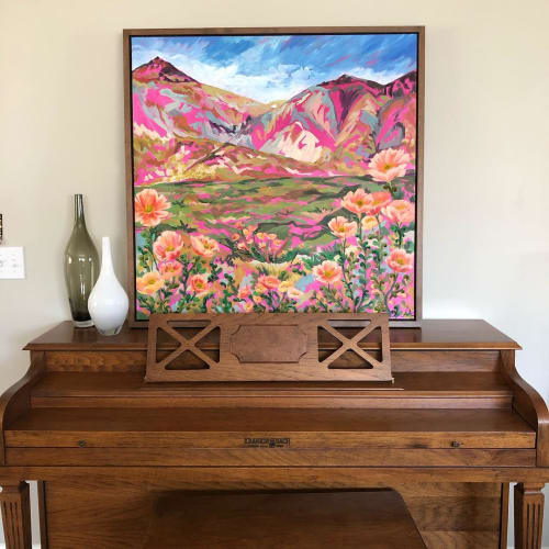 Paintings by Anisa Asakawa seen at Private Residence, Portland - Colorful Iceland Painting