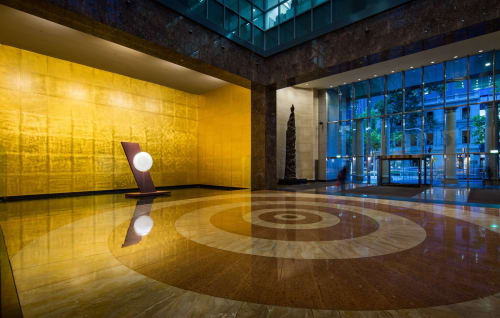 Sculptures by Brian Corr seen at 101 Collins St, Melbourne - Timshel