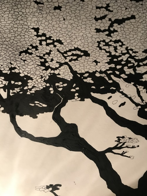 Murals by Rich T. seen at Harlem, New York - Tree