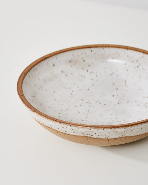 Ceramic Plates by East Clay Ceramics seen at Private Residence, Richmond - Speckled Low Bowl