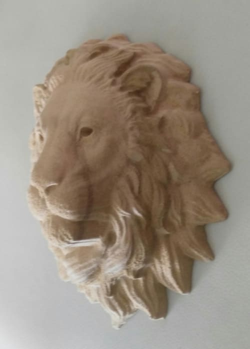 Art & Wall Decor by SHANAHEEL ALMESK seen at Private Residence, Amman - Lion Face