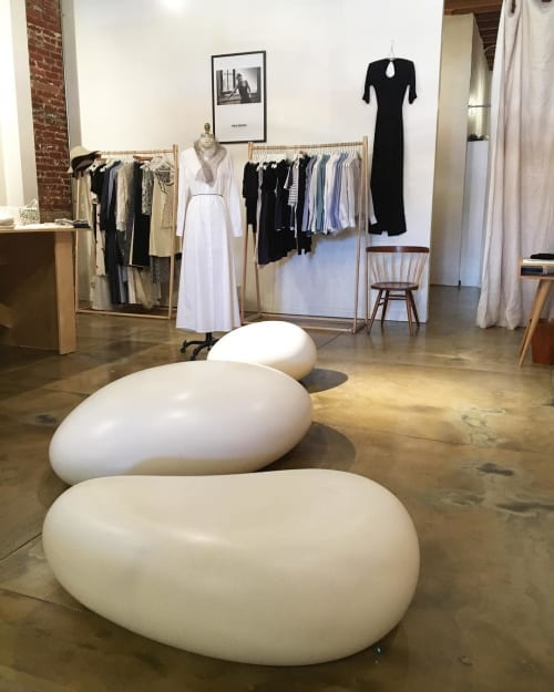 Sculptures by Concreteworks seen at A V I O N clothier, Los Angeles - SoMa Stones