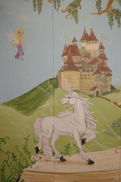 Murals by Angela Bawden seen at Utah - Elementary School Library Mural