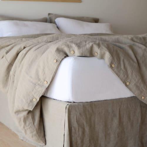 Linens & Bedding by Rough Linen seen at Rough Linen, San Rafael - Fitted Linen Sheet