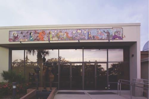 Public Mosaics by Madison Heights Affordable Senior Residences, Tampa , Florida- Glass and Ceramic Mosaic 10'x30' seen at Orlando Shakes, Orlando - Orlando Shakespeare Theater