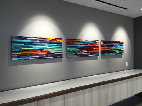 Wall Hangings by Natalie Ventimiglia seen at Butler Snow LLP, Denver - Source Energy Series