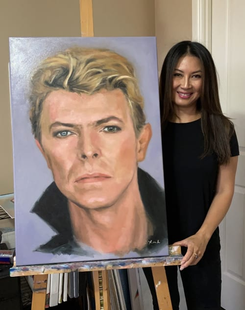 Paintings by Xinh Oil Paintings seen at Sydney, Sydney - David Bowie - Commissioned Portrait Oil Paintings