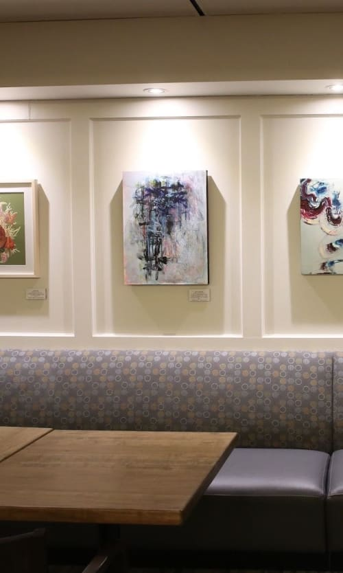 """Paintings by Karen Goetzinger seen at Queen's Park Legislative Assembly of Ontario, Toronto - """"A Storm Formed Quickly"""""""