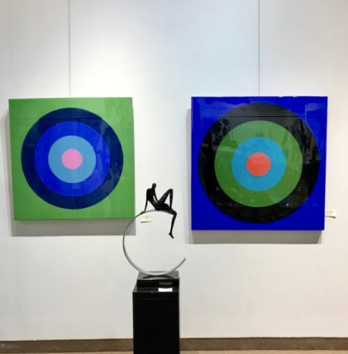 Paintings by Stephanie Henderson Paintings at Shayne Gallery, Mont-Royal - Ultra Glossy Targets @ The Shayne Gallery
