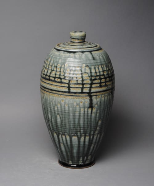 Vases & Vessels by John McCoy Pottery seen at Private Residence, Mountain Brook - Covered Jar
