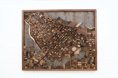 Vancouver City Scape | Sculptures by Craig Forget | Private Residence, Essex, Ontario in Essex