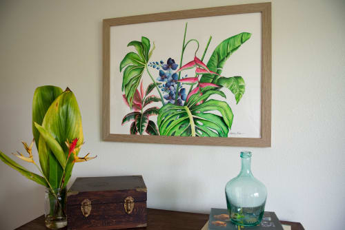 Paintings by Ashley Kaase seen at Private Residence, Wahiawa - In The Garden