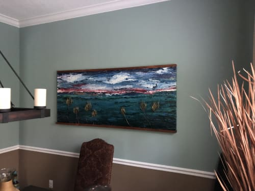 Paintings by Ariel Gold seen at Private Residence, Ponte Vedra Beach - Evening on the Bay