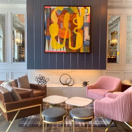 Chairs by Louis Interiors Inc. seen at Fairview, Lake Louise - Bespoke lounge chairs and stools