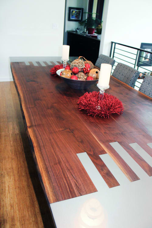 Tables by Amie Jacobsen Art and Design seen at Private Residence, Overland Park - The Falls Table