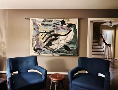 Wall Hangings by K'era Morgan seen at Private Residence, Rochester - Custom Woven Wall Tapestry