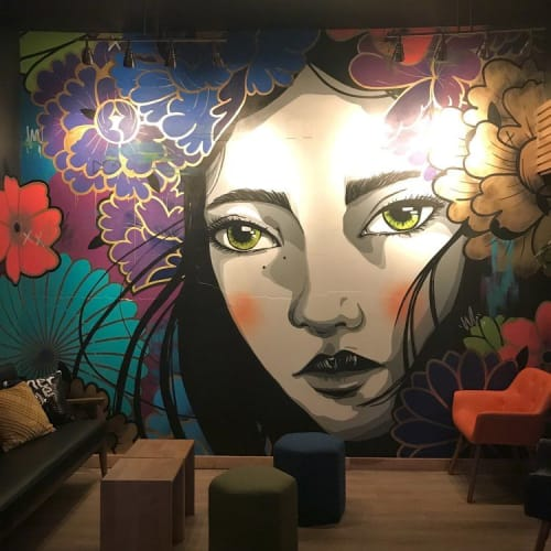 Murals by Emma Daisy seen at Merge, Milwaukee - EYES OPEN