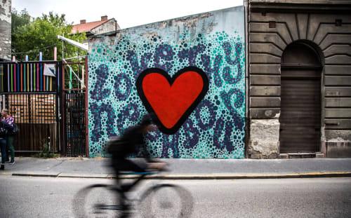 Murals by Luke Embden seen at Dob Street, Budapest - Love Thy Neighbour