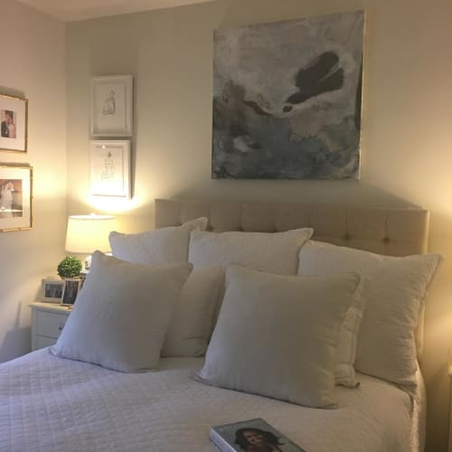 Paintings by Sarah Amanda aka S.A. Maples seen at Private Residence - 36x36'' abstract painting