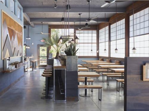 Interior Design by RareField Design/Build seen at 935 Gravenstein Hwy S, Sebastopol - Handline Restaurant