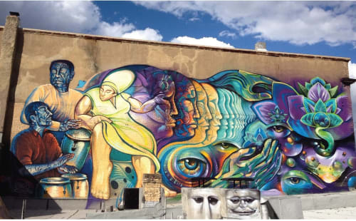 Street Murals by Miguel Bounce Perez seen at Washington, Washington - Calling Our Ancestors