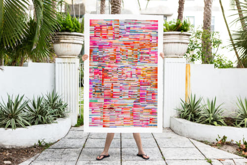 Paintings by Johanna Boccardo seen at Private Residence, Miami Beach - Bold and bright painting