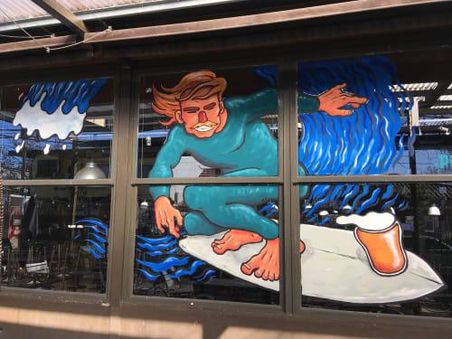 Murals by PITARTEAGA seen at City Bell, City Bell - Surfer beer