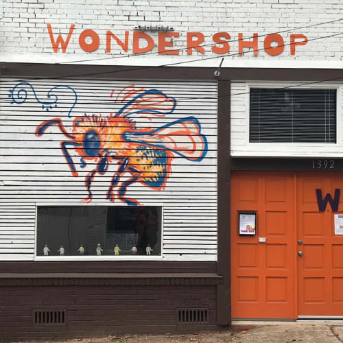 Murals by AP Fine Arts seen at WONDERSHOP, Atlanta - WONDERSHOP Mural