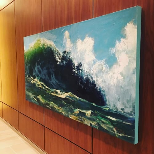 Paintings by William Park seen at AC Hotel by Marriott Portland Downtown, OR, Portland - Absolutely