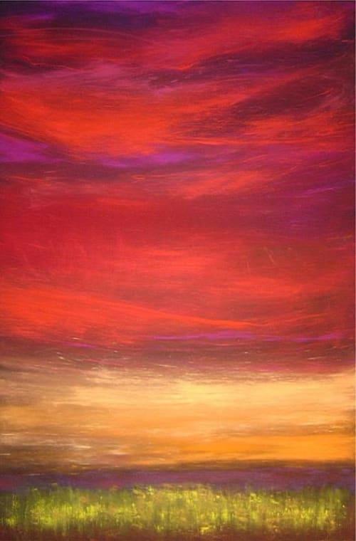 Paintings by Julie Hansen seen at Ogletree Deakins, Kansas City - Grassland