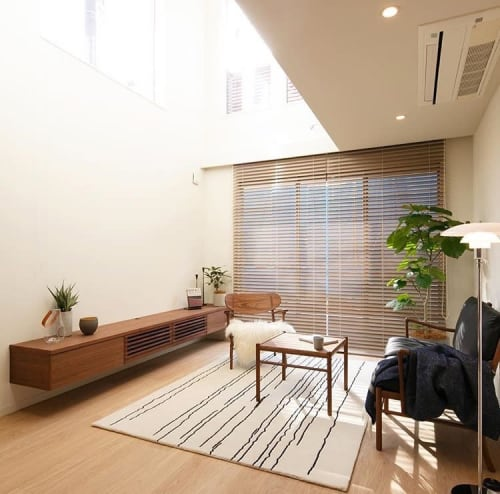 Rugs by Naja Utzon Popov seen at Private Residence, Tokyo - Woodlines (W/B)