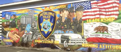 Murals by Maxfield Bala Creative seen at 969 Petaluma Blvd N, Petaluma - Maxfield Bala