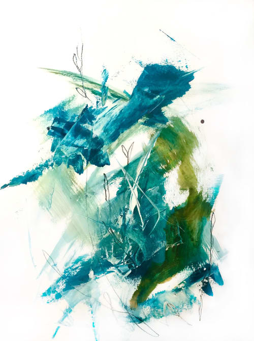 Paintings by Cristina Dalla Valentina seen at Private Residence, Paris - Another sea /3