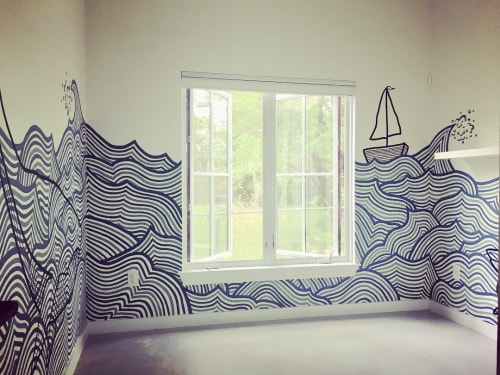 Murals by Avery Orendorf at Private Residence, Austin - Nursery Mural