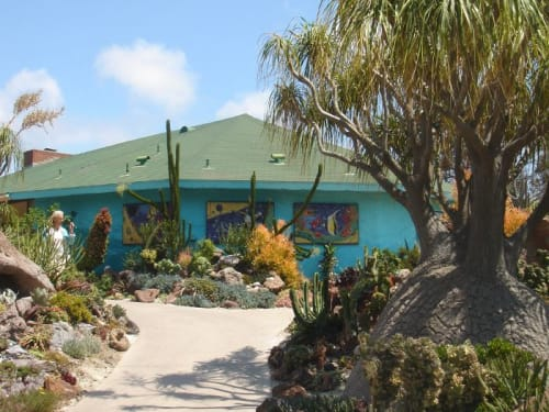 Sculptures by Betsy K. Schulz seen at San Diego Botanic Garden, Encinitas - Undersea Garden Mural