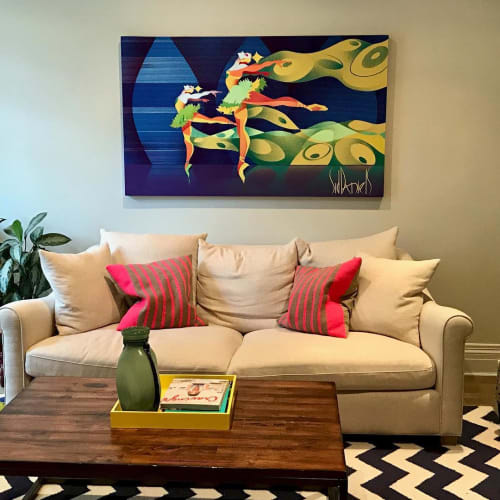 Paintings by Sid Daniels seen at Private Residence, Toronto - Turquoise Ballet