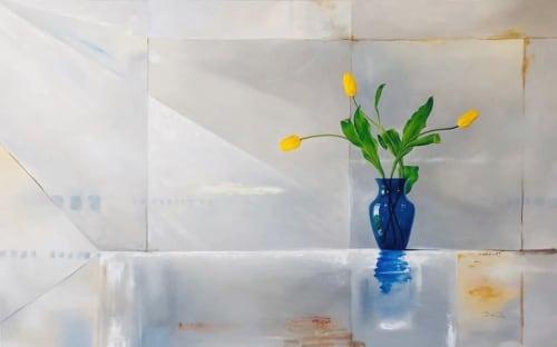 Flower Vase Painting | Paintings by Daniela de Castro Sucre