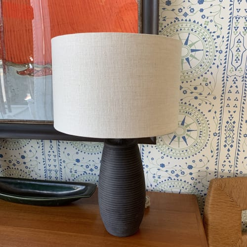 Lamps by Donna de Soto seen at Hollywood at Home, Los Angeles - Black on Black Table Lamp