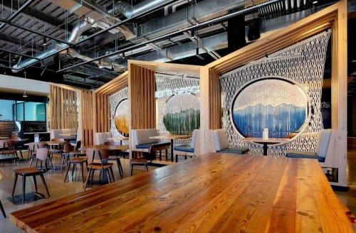 Macrame Wall Hanging by Rianne Aarts seen at Google Garage, Menlo Park - Macrame Custom Panels