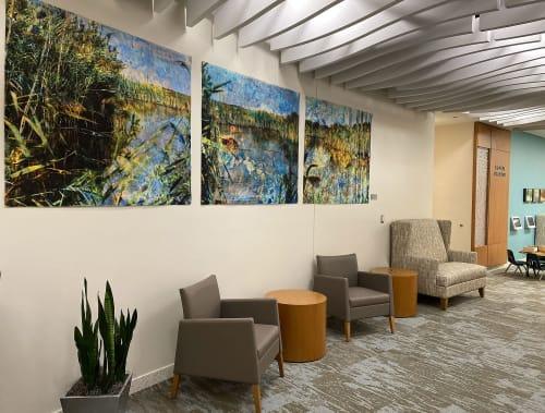 Public Art by Joanie Gagnon San Chirico Studio seen at AtlantiCare Urgent Care Manahawkin, Stafford Township - Marsh Triptych