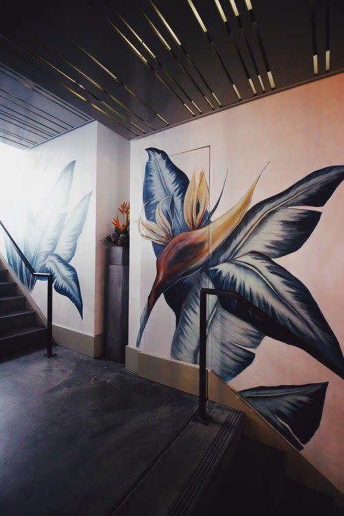 Murals by Charly Malpass Art seen at Jones, San Francisco - Birds of Paradise