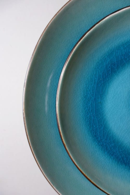 Ceramic Plates by Mieke Cuppen seen at Voorhaven 57, Rotterdam - Gastro Seablue tableware